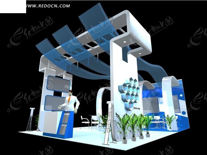 3d展台展示模型_展示模型