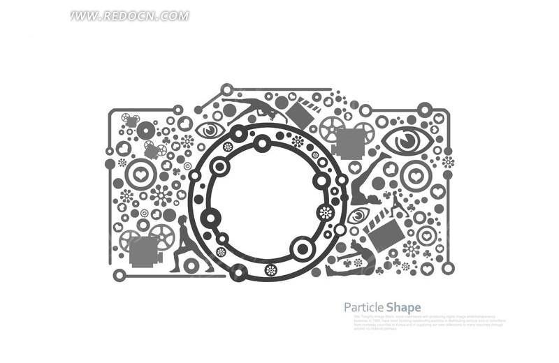 免费素材 psd素材 psd广告设计模板 海报设计 花纹创意照相机  请您图片