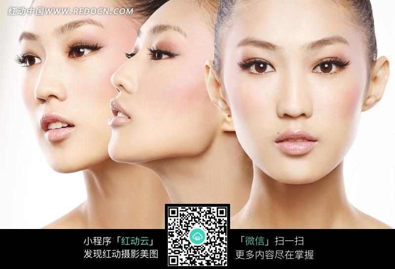 不同角度的女人脸部写真图片 人物图片素材|图