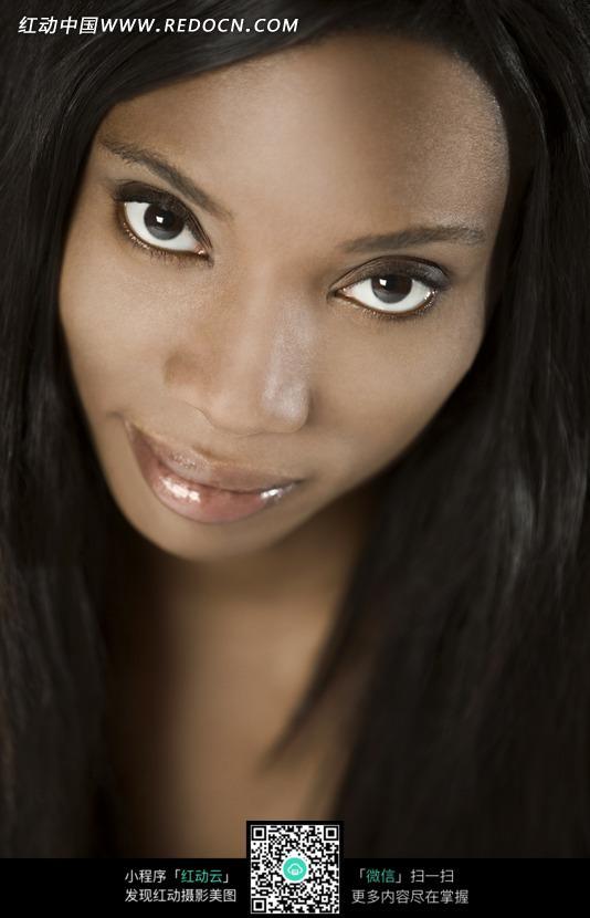 黑人女模特特写照片图片