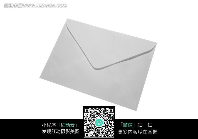 一个简单的白色信封纸袋