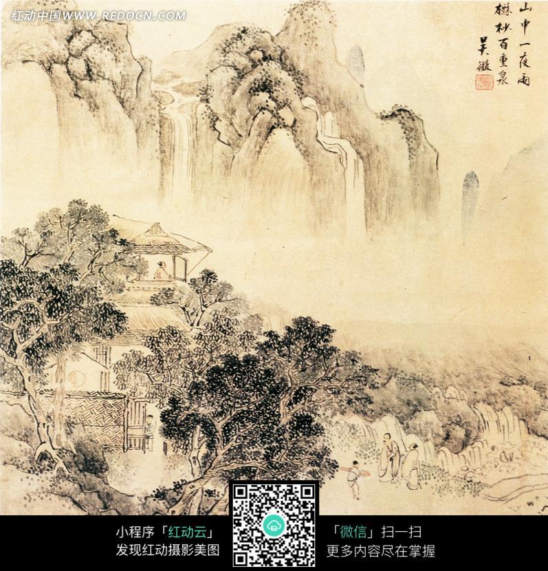 中国古代名画-呈徵山水图