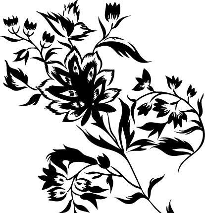 手绘叶子插画素材