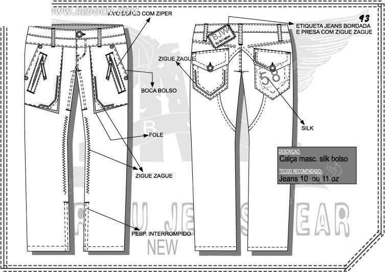 长裤设计矢量草图图片