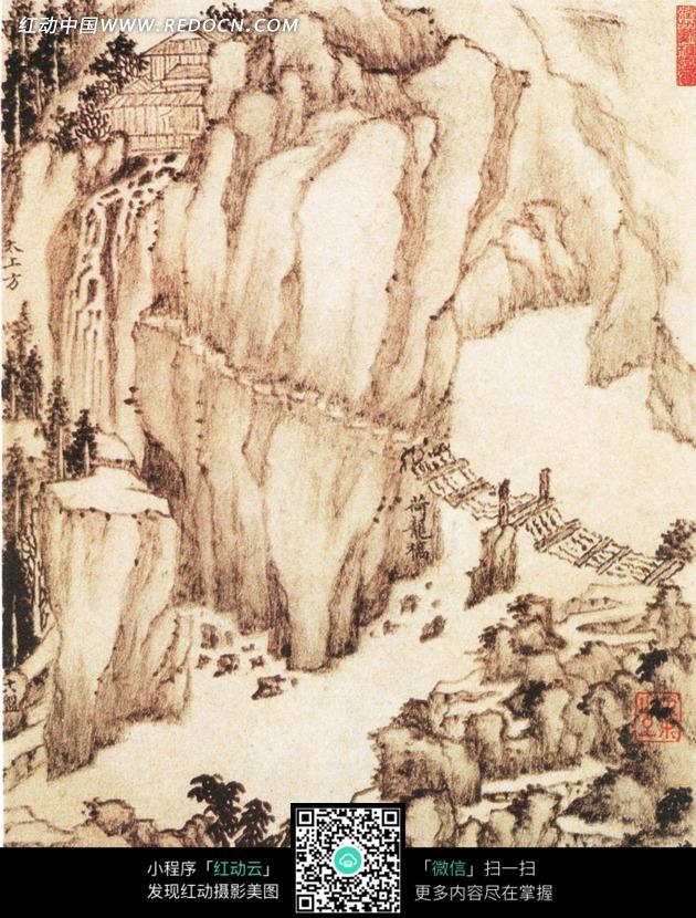 中国古代名画-荷龙桥图片