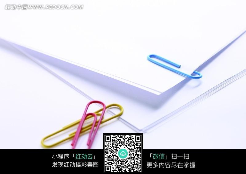 白纸曲别针图片_办公学习图片图片