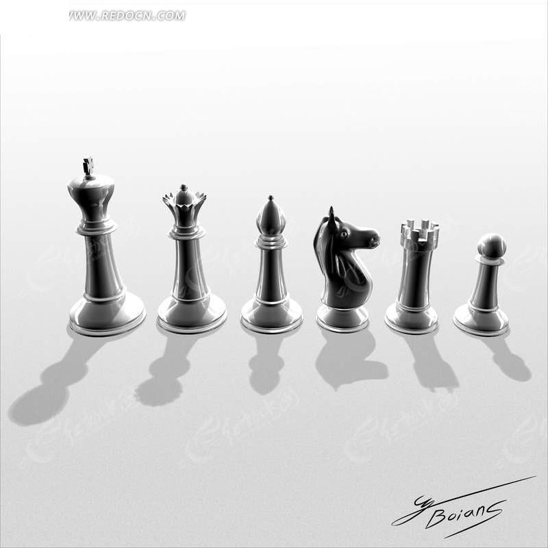 国际象棋棋子排列素材图片