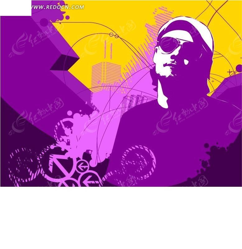 前卫 线条 运动 涂鸦 手绘 酷 炫 块 圆圈  街舞 潮人 ai矢量 花纹 花