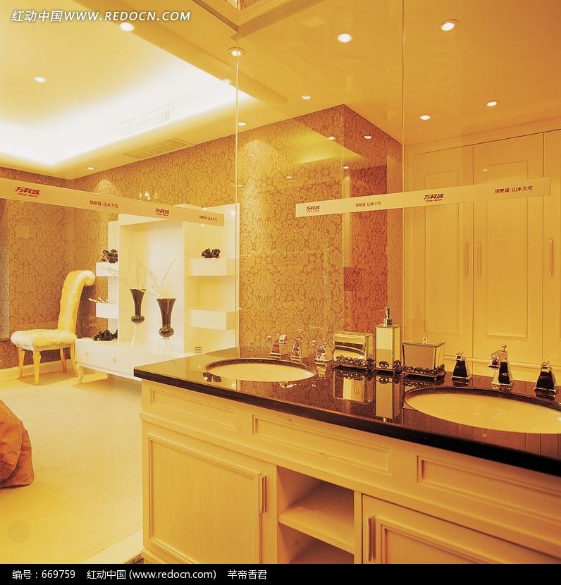 欧式豪华室内大理石厨卫展示