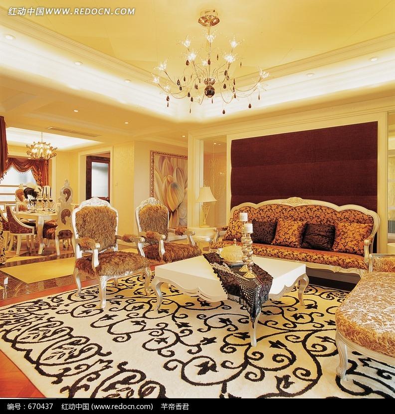 欧式豪华客厅装修