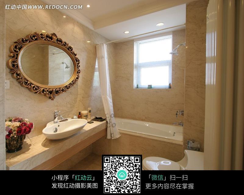 明亮的欧式洗手间效果图图片 高清图片