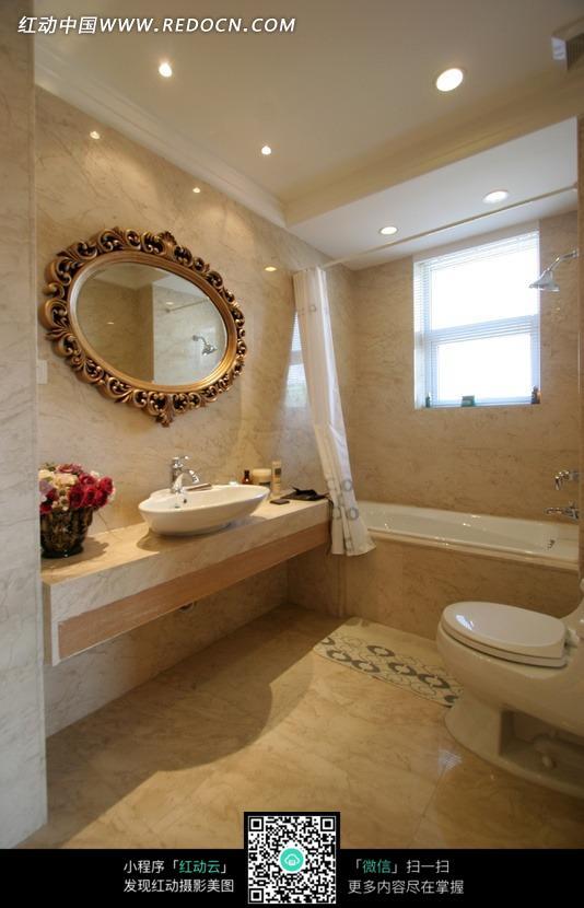 漂亮的欧式洗手间效果图图片 高清图片