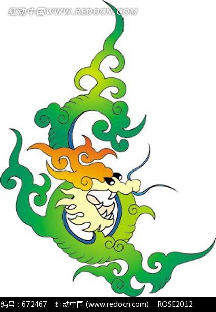 中国 传统 图案 纹样 花纹 元素 吉祥 古典 古代 卡通 动物 龙 祥龙