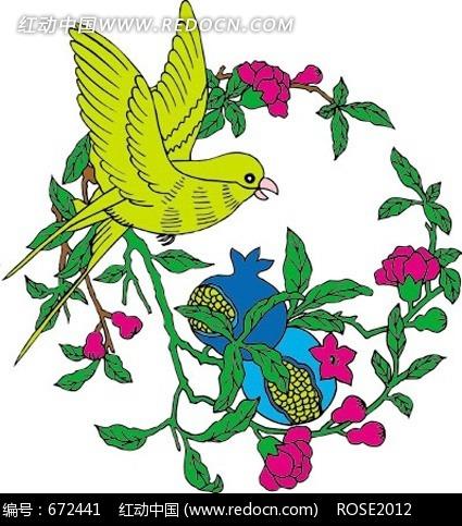 中国 传统 图案 纹样 花纹 元素 吉祥 古典 古代 卡通 动物 喜鹊 鸟