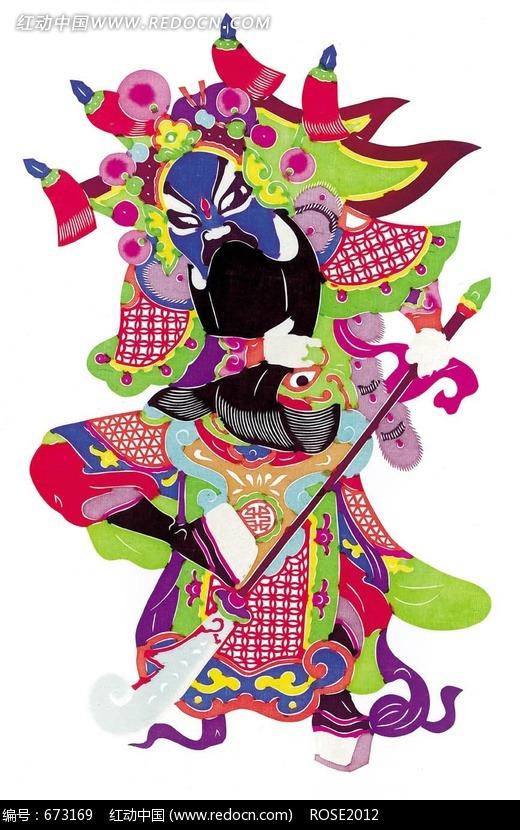 中国戏曲人物剪纸