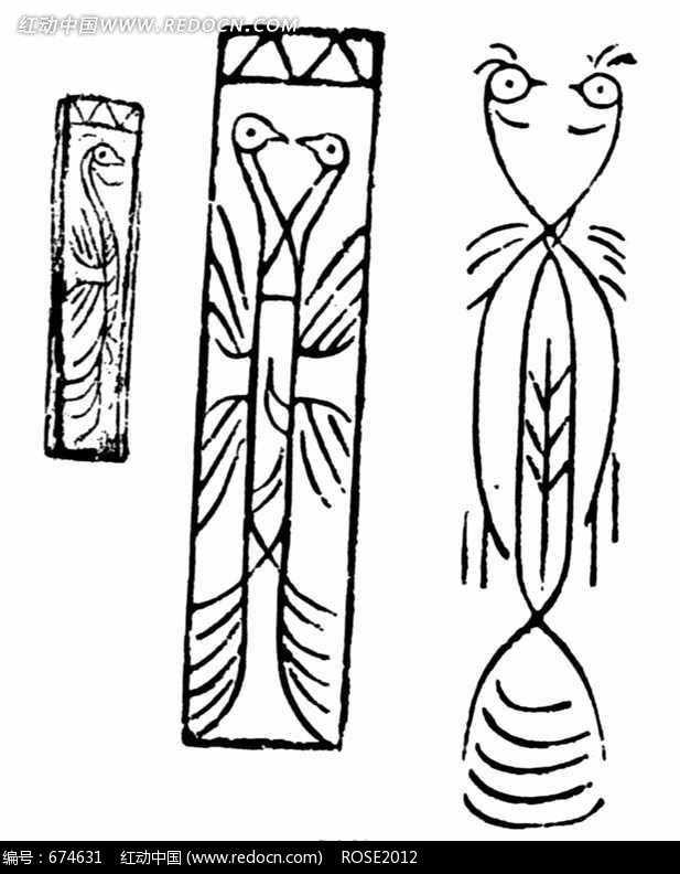 柱子简笔画图片手绘