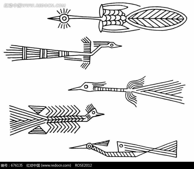 抽象古代凤纹图片