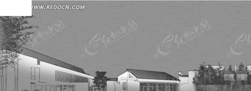 黑白乡村房屋