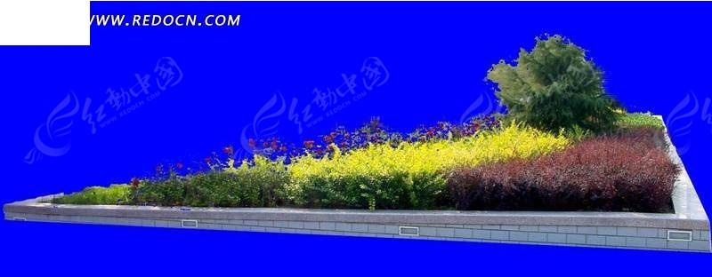 三角形花坛-园林 景观