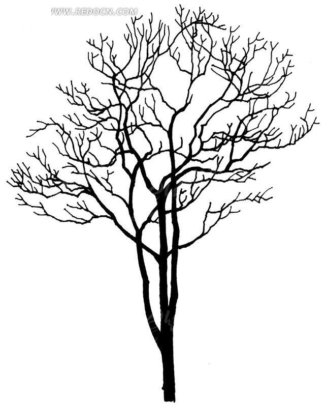 壁纸 简笔画 手绘 树 线稿 644_830 竖版 竖屏 手机图片