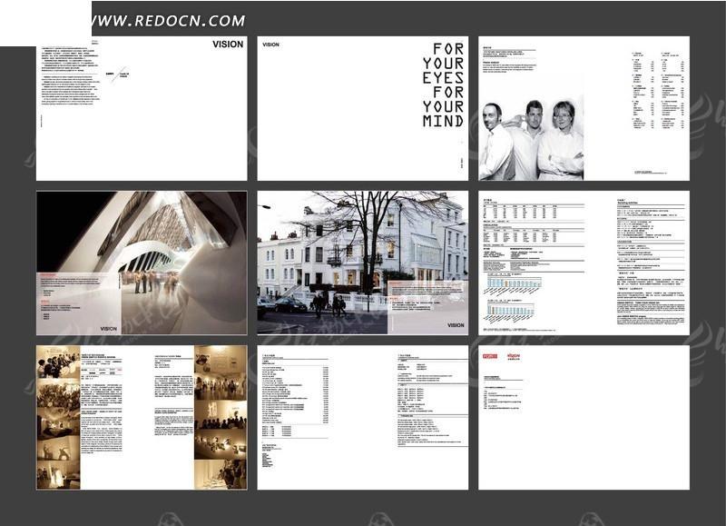 国外企业形象画册版式设计图片
