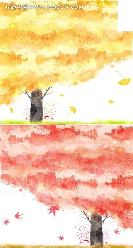 韩国彩绘大树psd素材免费下载 编号686077 红动网