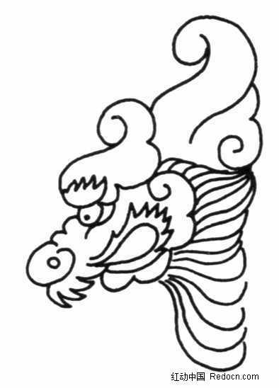 中国古典图案 卷曲纹的龙头图片免费下载 编号690187 红动网