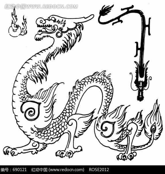 您当前访问素材主题是中国古典图案-两条龙和火球,编号是690121,文件