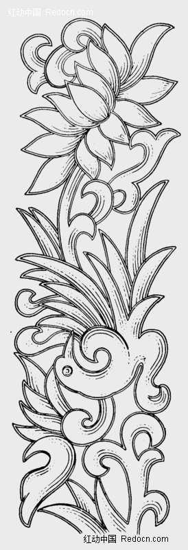 莲花图片简笔画 手绘