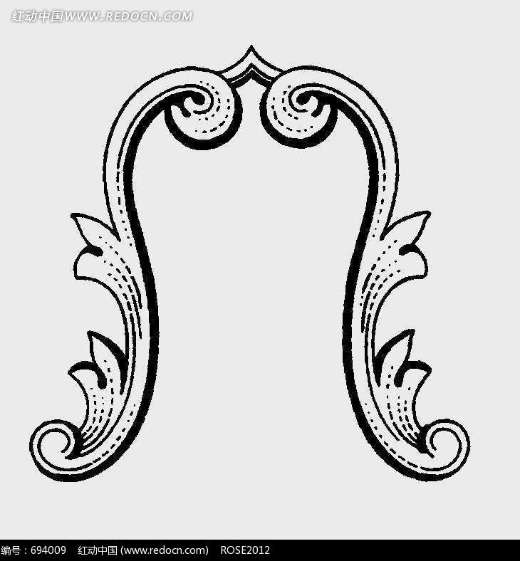 欧式建筑浮雕装饰花边图案036