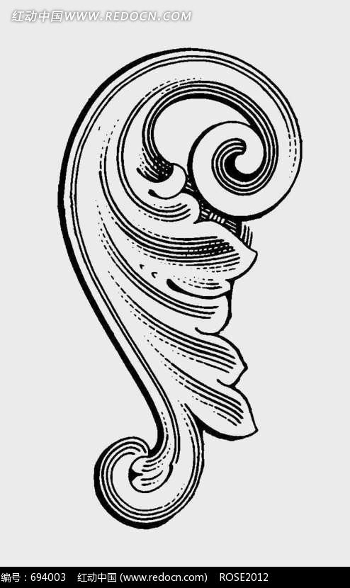 欧式建筑浮雕装饰图案02图片图片
