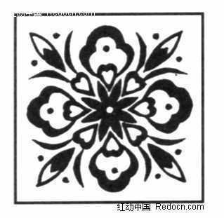 四方连续的传统花卉图案素材图片