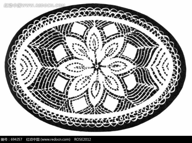 圆形花纹 插画 拓印 手绘风格 线描 线稿 植物 图片素材 jpg 花纹