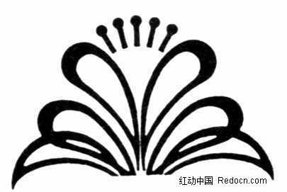黑白抽象花卉花纹素材图片免费下载 编号694323 红动网
