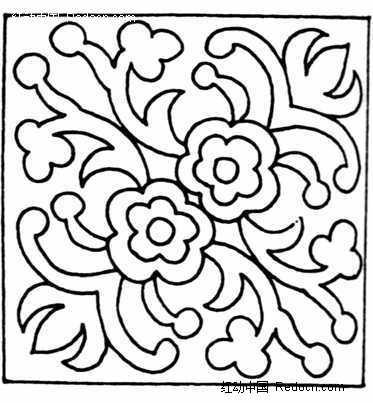 二方连续适合纹样-描花卉图案素材图片免费下载 编号694993 红动网图片