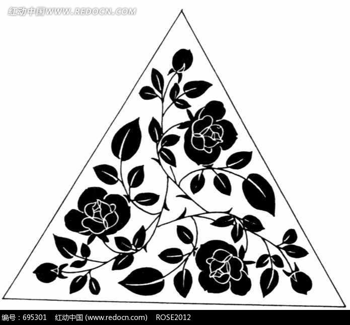 三角形装饰花纹图案设计图片