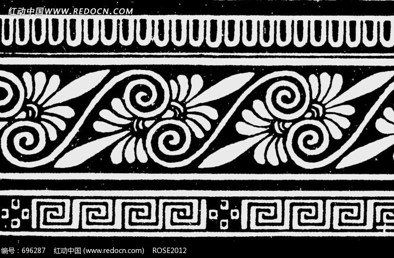 四方连续花纹图片 花纹 花边 线条 背景图库下载 696287