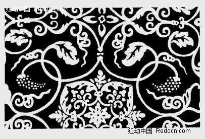黑白相间的花式底纹