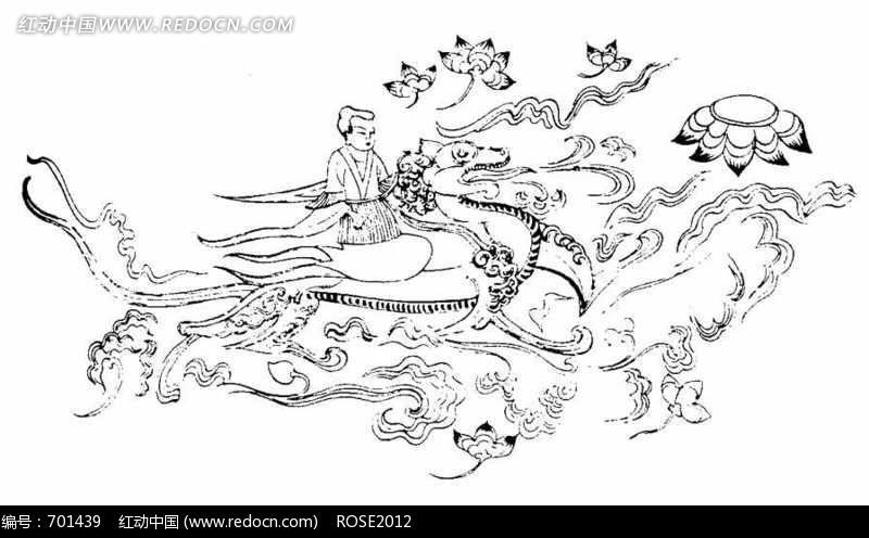 中国古典-云端飞行的神仙图片