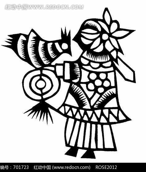 古代人物图形剪纸图形照片