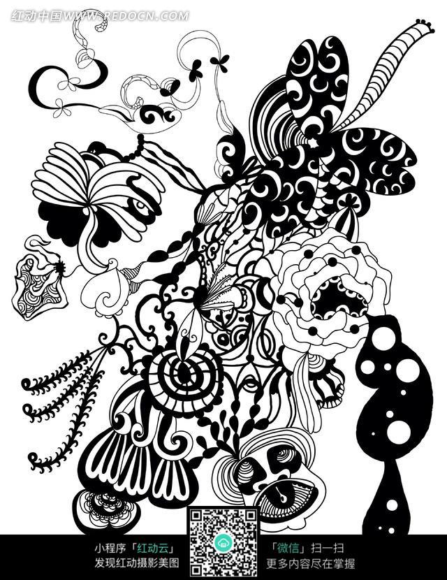 创意个性简笔画涂鸦花纹图片免费下载 编号703995 红动网
