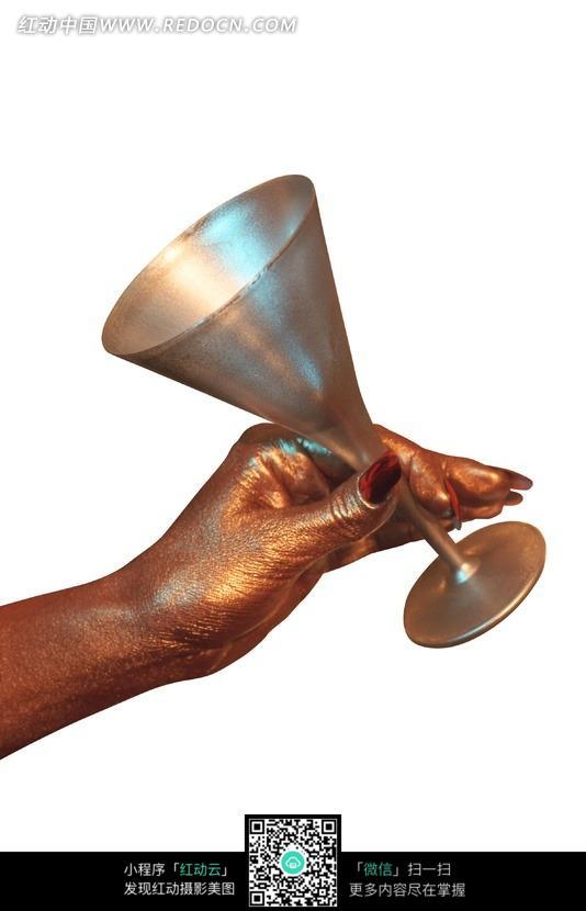 人物图片 人体器官 拿着金色高脚杯的金色手  请您分享: 素材描述:红图片