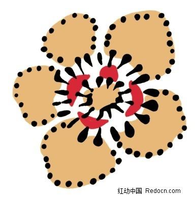手绘卡通五瓣花