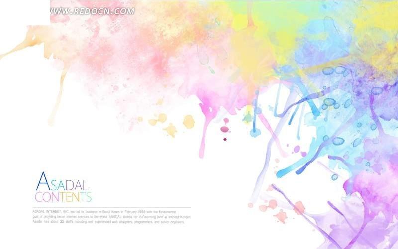 绚丽水彩背景素材 PSD花纹背景 PS底纹素材下载 698291