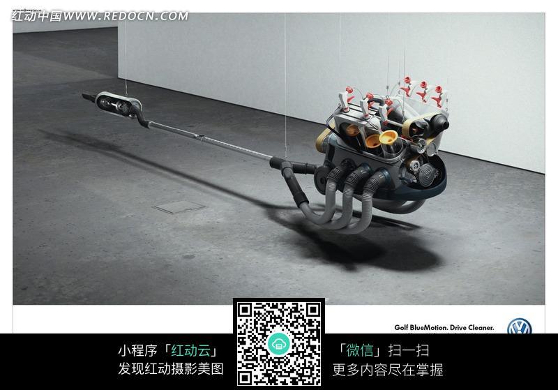 发动机创意广告设计图片