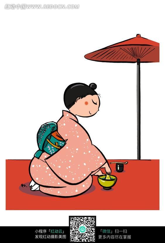 日本和服卡通图片