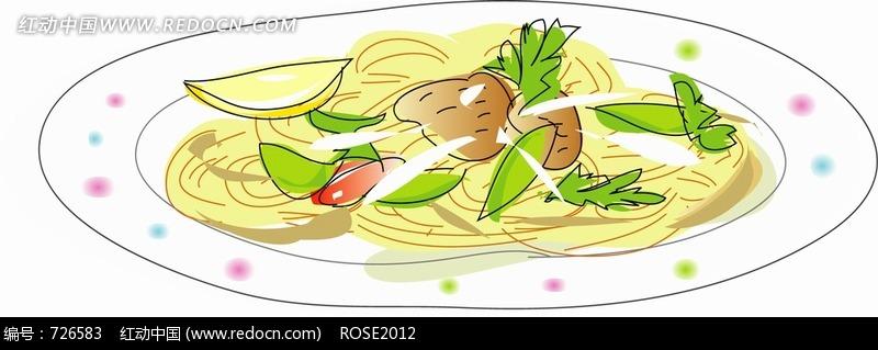 盘子里的马铃薯和其它蔬菜图片