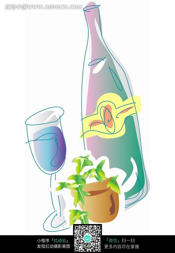 红酒 红酒瓶