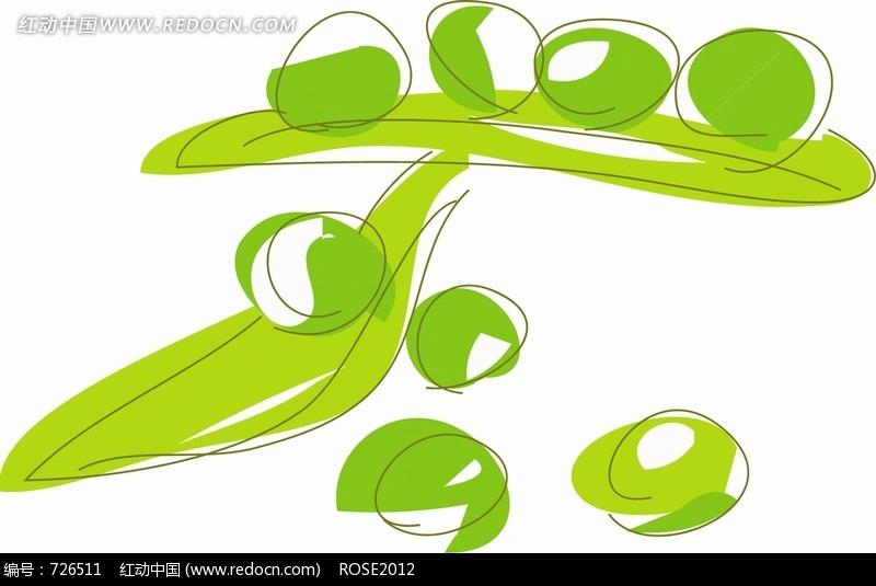 豆荚简笔画图片
