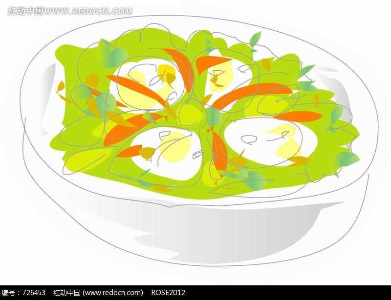 手绘蔬菜拼盘